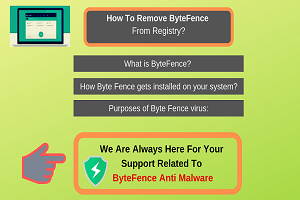 How do I remove ByteFence from registry?