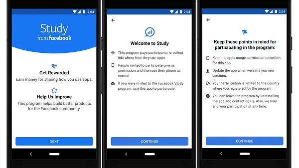 Facebook will pay users for allowing it keep tracks of your app usage