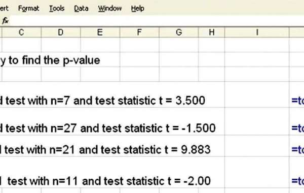 How to Find a P Value with Excel