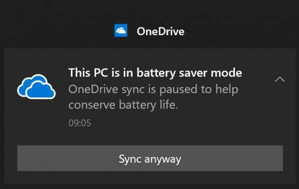 How To Auto-Pause OneDrive Sync When In Battery Saver Mode?