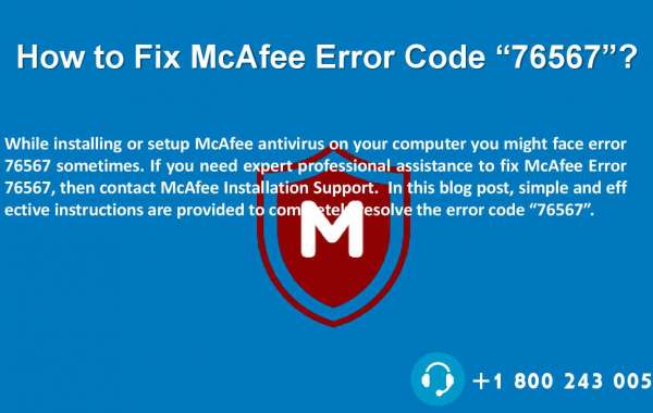 How to Solve McAfee Error 76567?