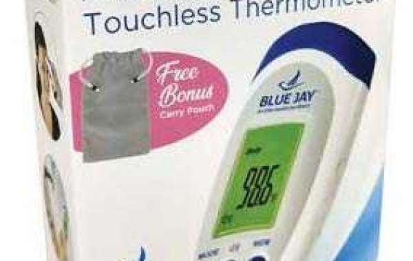 Blue Jay An Elite Healthcare Brand No Need to Touch Infrared Thermometer with LCD Screen