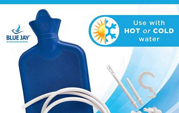 Blue Jay An Elite Healthcare Brand Hot or Cold Portable Classic Rubber Water Bottle
