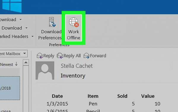 How to bring from Outlook working offline to online?