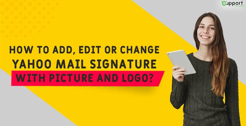 How to Add, Edit or Change Yahoo Mail Signature with Picture and Logo?
