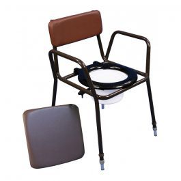 Z-Tec Adjustable Height Stacking Commode - Essential Aids UK