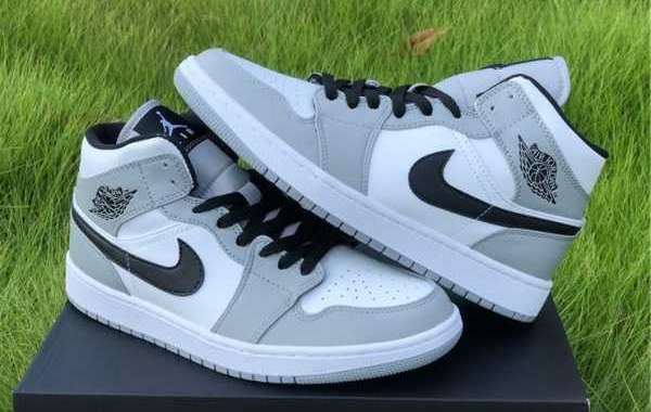 Buy Air Jordan 1 Mid Light Smoke Grey Online 554724-092